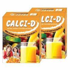 ซื้อ Calci D Orange Flavour เเคลซี่ ดี เเคลเซียม 400 มก เเละวิตามินบีรวม 20 กรัม 10ซองX2กล่อง ถูก ใน ไทย