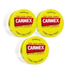 ราคา Carmex Original Lip Balm ลิปบาล์มสูตรยอดนิยม ที่ได้รับการยอมรับใน Usa มานานกว่า 75 ปี 7 5G 3 ตลับ Carmex ใหม่