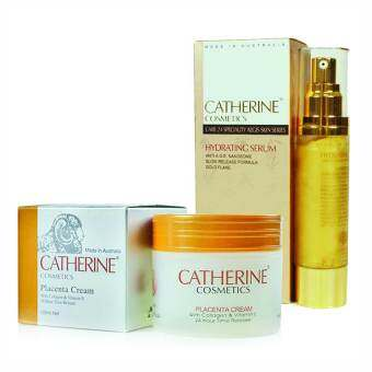 Catherine Cosmetics Placenta with Collagen Vitamin E ขนาด 100 ml. + Catherine Hydrating Serum ขนาด 50 ml.
