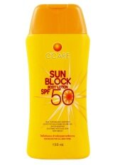 ราคา C Care Sun Block Body Lotion Spf50 150 Ml ถูก