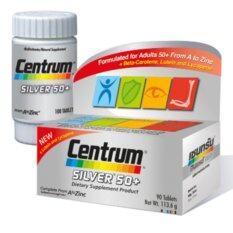 ซื้อ Centrum Silver 50 Dietary 90 Tab เซนทรัม ซิลเวอร์ 50 อาหารเสริมผู้สูงอายุ บำรุงร่างกาย 90 เม็ด กรุงเทพมหานคร