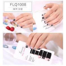 ซื้อ Chanee Korean Nail Art Sticker สติกเกอร์ติดเล็บลอกลายจากเกาหลี แถมเทปแต่งเล็บ 1 ม้วน No Flq1008