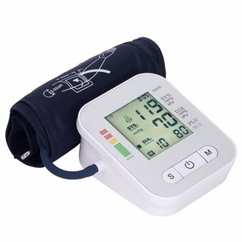 CICI Arm Blood Pressure Monitor LCD Heart Beat Home Sphgmomanometer White