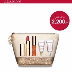 ซื้อ Clarins ชุดเซ็ทผลิตภัณฑ์บำรุงริมฝีปาก Joli Rouge Precious Holiday ถูก