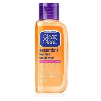CleanClear สบู่เหลว ล้างหน้า เอสเซนเชียล โฟมมิ่ง เฟเชียล วอช 50 มล.