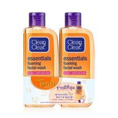 ทบทวน Clean Clearคลีน แอนด์ เคลียร์ เอสเซนเชียล โฟมมิ่ง เฟเชียลวอช100มล X 2 Clean Clear
