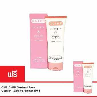 CLIFE โฟมล้างหน้า LC VITTA Treatment Foam Cleanser + Makeup Remover 100 g