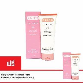 CLIFE โฟมล้างหน้า LC VITTA Treatment Foam Cleanser + Makeup Remover 100 g