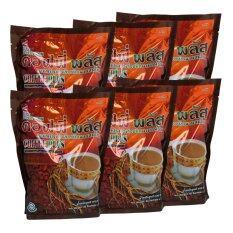 ราคา Coffee กาแฟปรุงสำเร็จรูปชนิดผงผสมโสม Coffee Plus 6 ห่อ Coffee เป็นต้นฉบับ