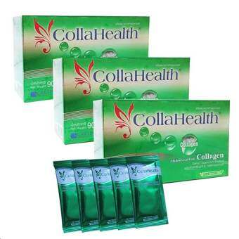 Collahealth Collagen คอลลาเจนบริสุทธิ์ คอลลาเฮลท์ (30 ซอง x 3 กล่อง)