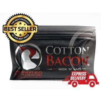 ราคา Cotton bacon Made In U.S.A สำลีฝ้ายแท้ 100% Vape orangic สำลีเบคอน