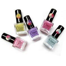 ขาย ซื้อ Crazy Nail 15 Color Change ยาทาเล็บ 1Set เปลี่ยนได้ 15สี 5 ขวด สีมุก