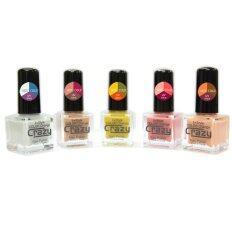 ขาย Crazy Nail 15 Color Change ยาทาเล็บ 1Set เปลี่ยนได้ 15สี 5 ขวด สีแมท ออนไลน์ ไทย