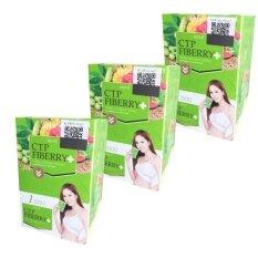 ราคา Ctp Fiberry Detox แพ็คเก็ตใหม่ ดีท็อกล้างสารพิษในลำไส้ 10 ซอง 3 กล่อง ที่สุด