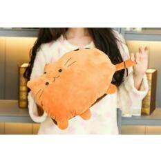 ส่วนลด สินค้า กระเป๋าน้ำร้อนไฟฟ้า ลายแมว ถอดซักได้ สีส้ม