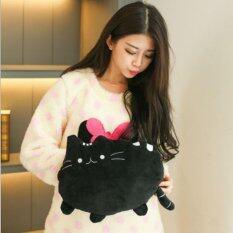 ขาย กระเป๋าน้ำร้อนไฟฟ้า ถอดซักได้ ลายแมว สีดำ ผู้ค้าส่ง