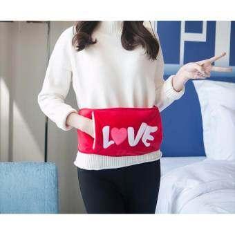 Cute Warmer กระเป๋าน้ำร้อนไฟฟ้า รุ่นสายคาดเอว LOVE (สีแดง)-