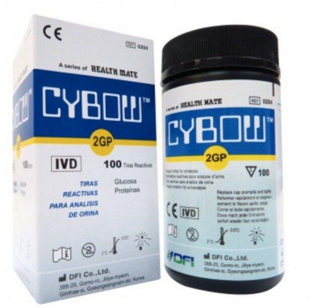 Cybow เเถบตรวจปัสสาวะ ด้วยตัวเอง (น้ำตาล + โปรตีน) x 100 ชิ้นสุดคุ้ม!!!