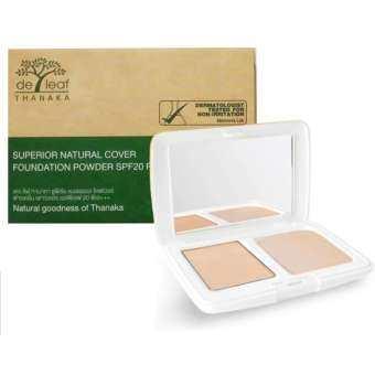 ราคา แป้งผสมรองพื้นทานาคา SPF 20 PA+++ 01 ไลท์ เดอ ลีฟ ทานาคา De Leaf Thanaka Superior Natural Cover Foundation Powder SPF 20 PA+++ 01 Light รุ่น SPT-FPD615-01 : ปกป้องผิวจากแสง UVA และ UVB