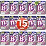 ราคา Dhc Vitamin B Mix วิตามิน บี รวม 8 ชนิด สำหรับ 60 วัน รักษาและป้องกันการเกิดสิว ลดปัญหาสิวเสี้ยน สิวอุดตัน ผดผื่นบนใบหน้าได้ดี ช่วยให้หน้าเนียนเรียบ เซ็ต 15 ซอง 1 ซอง 120 เม็ด ถูก