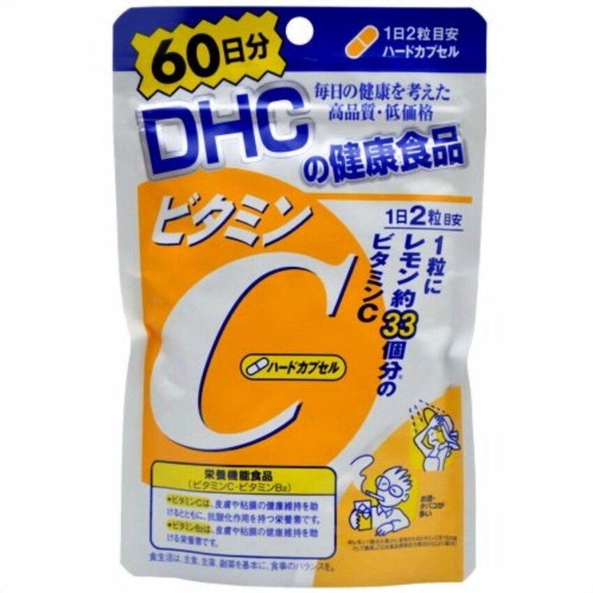 ซื้อ  DHC Vitamin C ดีเอชซี วิตามิน ซี 60 วัน (120 เม็ด)    รีวิวสินค้า ของแท้