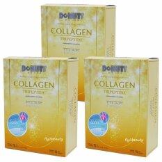 ราคา Donutt Collagen Tripeptide Hacp โดนัท คอลลาเจน ไตรเปปไทด์ เอชเอซีพี อาหารเสริมบำรุงกระดูกและข้อ บำรุงผิว ลดเลือนริ้วรอย ผิวใส สุขภาพดี ขนาด 15 ซอง X 3 กล่อง ใหม่
