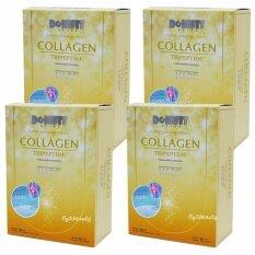 ขาย Donutt Collagen Tripeptide Hacp โดนัท คอลลาเจน ไตรเปปไทด์ เอชเอซีพี อาหารเสริมบำรุงกระดูกและข้อ บำรุงผิว ลดเลือนริ้วรอย ผิวใส สุขภาพดี ขนาด 15 ซอง X 4 กล่อง