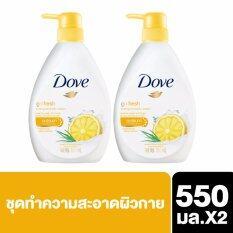 Dove Liquid Soap Go Fresh Energize 550 Ml 2 Bottles ใน กรุงเทพมหานคร