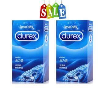 Durex Jeans ถุงยางอนามัยดูเร็กซ์ (12ชิ้น/1กล่อง) จำนวน 2 กล่อง