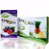 ราคา Easy2Slim Easy2Dtox อีซี่ทรูสลิมอาหารเสริมลดน้ำหนัก สำหรับคนลดยาก ทานได้ 1 เดือน ลดได้ 10 กิโล เป็นต้นฉบับ Easy2Slim