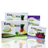 ราคา Easy2Slim Easy2Dtox Setd อีซี่ทรูสลิมอาหารเสริมลดน้ำหนัก 40เม็ด 30ซอง Easy2Slim