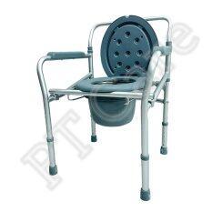 ส่วนลด เก้าอี้นั่งถ่ายอลูมิเนียมอัลลอยด์ แบบพับได้ สีเทา Unbranded Generic ใน กรุงเทพมหานคร
