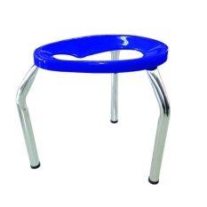 โปรโมชั่น เก้าอี้สามขานั่งถ่ายพับไม่ได้ ขนาดกลาง M สีน้ำเงิน ถูก