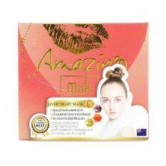 ขาย เรียวครีม มาร์คจุ้ฟ Amazing Milk Gold Over Nigth Mask วิตามินผิวในรูปมาส์ก 30 กรัม Real Cream ผู้ค้าส่ง
