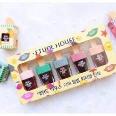 ราคา Etude House Dear Darling Water Gel Tint ลิปทิ้นไอติม 5 แท่ง 5 สี