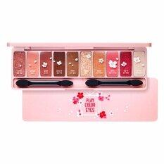 Etude House Play Color Eyes Cherry Blossom 8G X 10 Colors พาเลทอายแชโดว์สีหวานมาในตลับ 10 สี ไทย