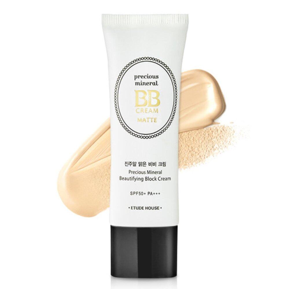 Etude House Precious Mineral Beautifying Block Cream SPF50+/PA+++ [Matte] 45g # Tan บีบีครีม
