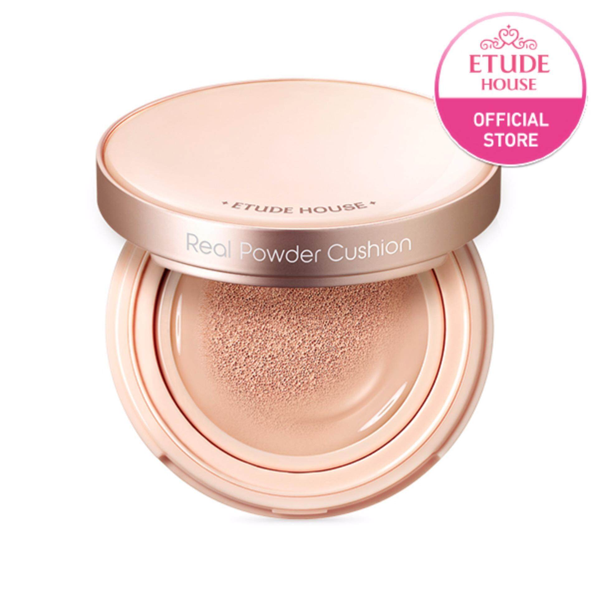 ETUDE HOUSE Real Powder Cushion SPF50+ PA+++ #Honey Beige (14 g) [Last Chance]
