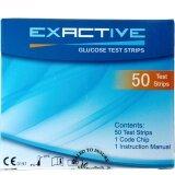 ขาย Exactive Vital แผ่นทดสอบ ระดับน้ำตาลกลูโคสในเลือด Test Strips 50 ชิ้น ใหม่