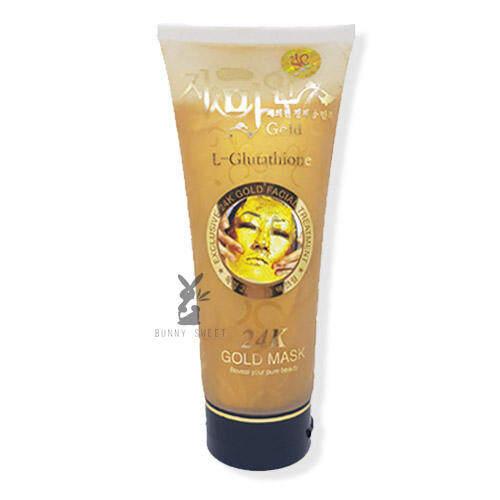 Exclusive 24K Facial Treament Mask L-Glutathione (Gold) ครีมมาส์กหน้า สูตรบำรุงพิเศษจากเกาหลี 24K แอล-กลูต้าไธโอน ทองคำ 220ml