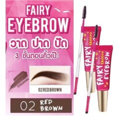 ส่วนลด เจลเขียนคิ้ิ้ว สามมิติ กันน้ำ ไม่หลุด ไม่เลอะ เขียนเรียงเส้นสวย วาดง่าย เนื้อครีม Eyebrow Tatoo Gel Fairy Fanatic แฟรี่ฟานาติก สีน้ำตาลแดง No 2 Red Brown 2กล่อง กรุงเทพมหานคร