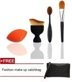 ราคา Fashion Popular Makeup Brush Kits Combine Large Loose Powder Foundation Brush Oval Toothbrush Makeup Brush Powder Puff Sponge Concealer Brush Intl เป็นต้นฉบับ