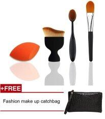 ขาย Fashion Popular Makeup Brush Kits Combine Large Loose Powder Foundation Brush Oval Toothbrush Makeup Brush Powder Puff Sponge Concealer Brush Intl Unbranded Generic เป็นต้นฉบับ