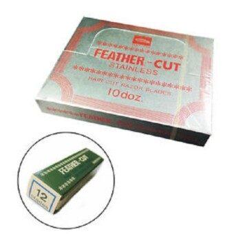 FEATHER มีดโกน กันคิ้ว กันจอน ตรา ขนนก วัสดุ สเตนเลส ผลิตจากญี่ปุ่น Stainless Hair Cut Razor Blades