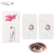 โปรโมชั่น Freshgo Yearly Disposable 12 Color Magic Pupil Contact Lenses Brown Intl