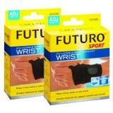 ราคา Futuro Sport Adjustable Wrist Support Wrist ฟูทูโร่ อุปกรณ์พยุงข้อมือแบบมีห่วงรองรับ ชนิดปรับกระชับได้ รุ่น 09033 2 อัน ใหม่