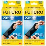 ส่วนลด สินค้า Futuro Wrist อุปกรณ์พยุงข้อมือ ฟูทูโร่ รุ่น 10770 ชนิดปรับกระชับได้ เสริมแถบเหล็ก 2 ชิ้น สีดำ
