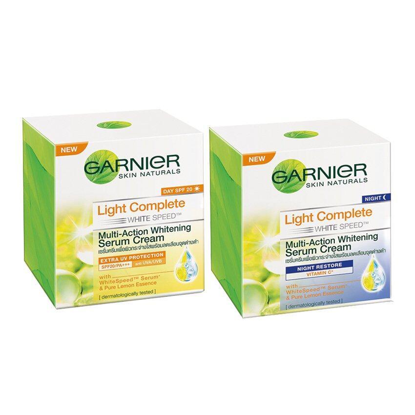 ใช้ดีจนต้องบอกต่อ GARNIER ชุดเซ็ตไลท์คอมพลีท (เดย์เซรั่มครีม 50 มล. + ไนท์เซรั่มครีม 50 มล.) Set Garnier Light Complete (Day Serum Cream 50ml + Night Serum Cream 50ml) ครีมหน้าใสแบบเกาหลี
