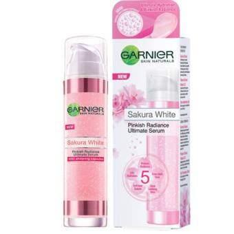 โปรโมชั่น Garnier Sakura White Ulitimate Serum การ์นิเย่ ซากุระ ไวท์ เซรั่ม 50ml.