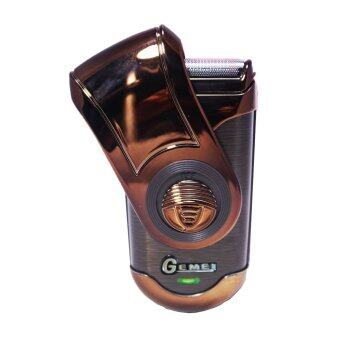 Gemei เครื่องโกนหนวด Rechargeable Shaver Km-9001( Brawn)